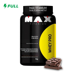 Whey Pro Proten 1kg Max Titanium Concentrado Original + Nf