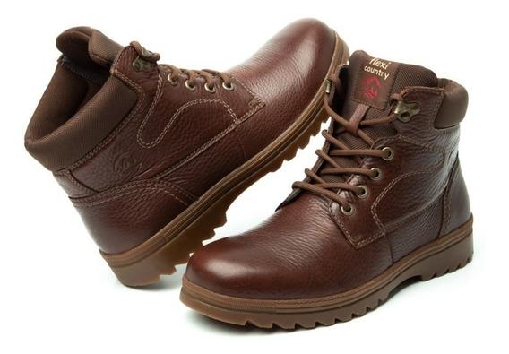 Zapato Botin Casual Caballero 50701 Flexi Nogal