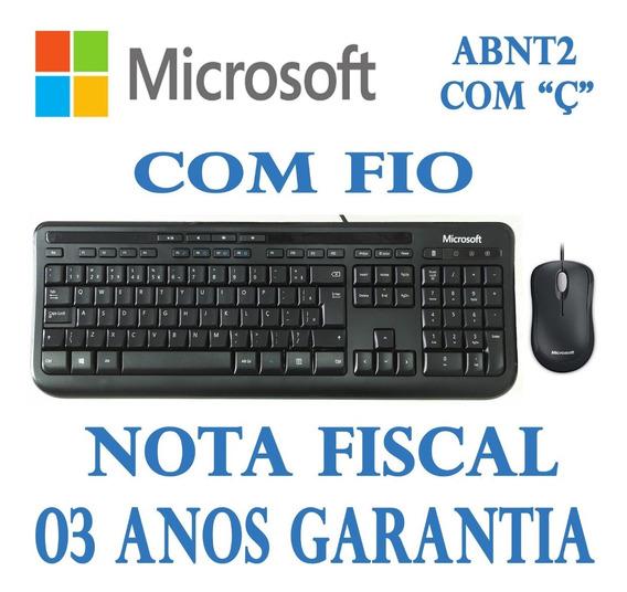 Kit Teclado E Mouse Microsoft Wired Desktop 600 3j2-00006