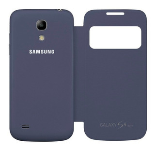 Funda Galaxy S4 I9500 Flip Cover Con S View Azul Marino