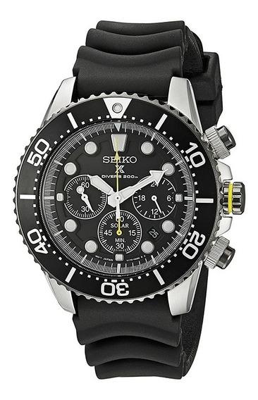 Relógio Seiko Solar Diver Chronograph Ssc021 Nfe