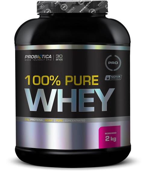 100% Pure Whey Protein Sabores Diversos 2kg Probiótica