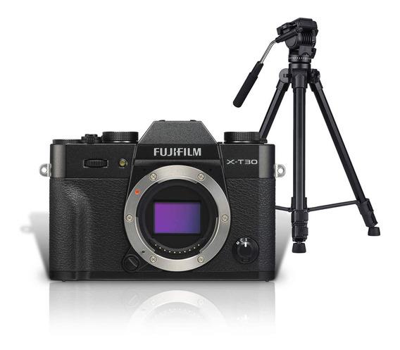Kit Mirrorless Fujifilm X-t30 4k Preta (corpo) + Tripé