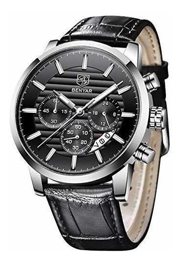 Relojbenyar Quartz Chronograph Waterproof Business And Sport