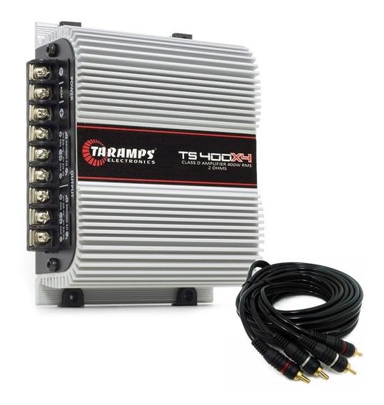 Modulo Taramps Ts400x4 Ts400 Digital 400rms + Cabo Rca