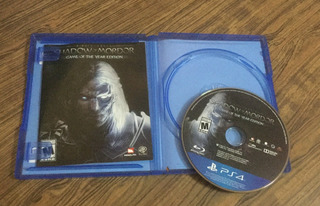 Shadow Of Mordor Goty Play Station 4