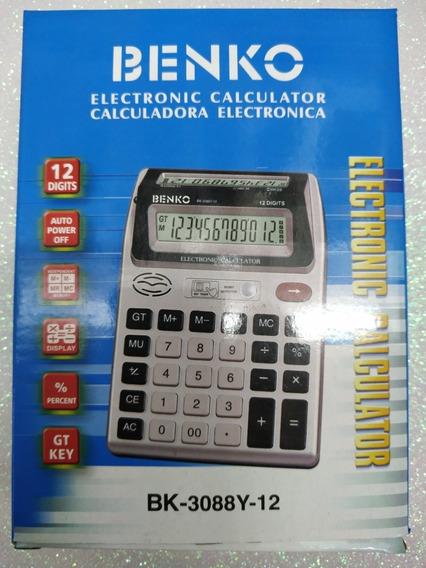 Calculadora 12 Dig Luz Testa Nota Falsa Display Duplo 2 Unid