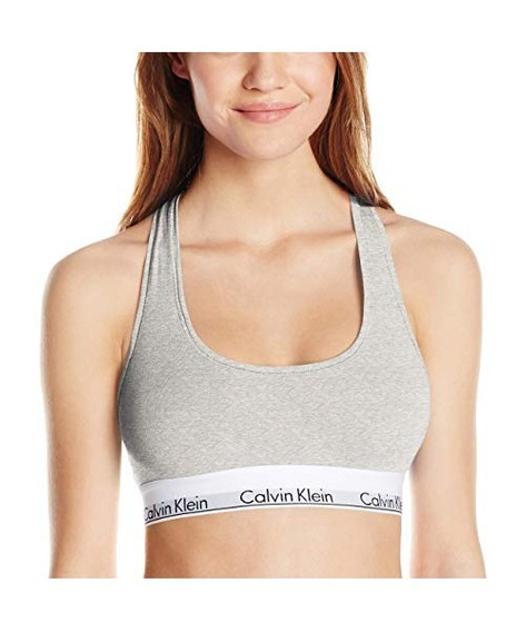 Bralette Moderno De Algodón Calvin Klein Para Mujer, Gris