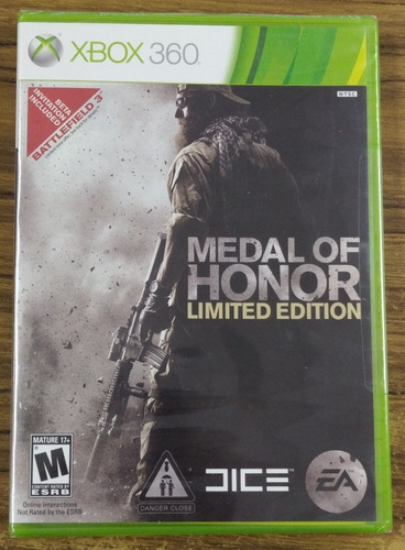 Medal Of Honor. Limited Edition. Xbox 360. Nuevo Y Sellado