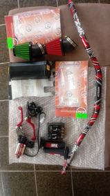 Guidão+bases28mm+luvas+manetes Retráteis+2 Filtros Esportivo