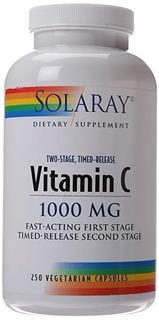 Vitamina C Solaray 1000mg 250 Capsulas