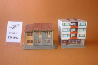 Ho 1:87 Casa Edifício Maquete Prédio Cód. Ed 0012 + Ed 0005