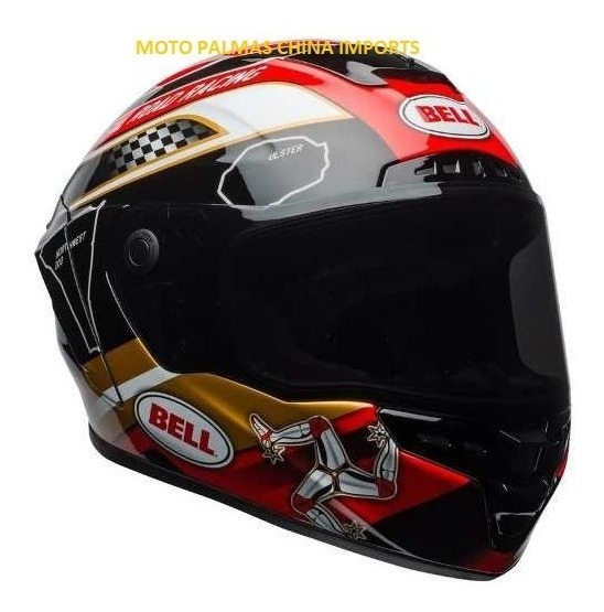 Capacete Bell Star Mips Isle Of Man Black Gold 56/62