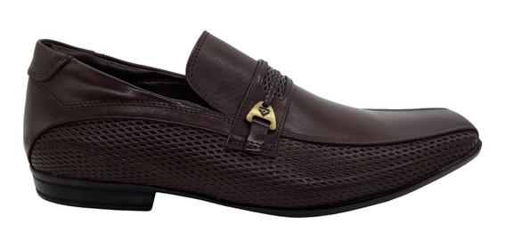 Sapato Masculino Calvest Marrom Original Em Couro 2300c614