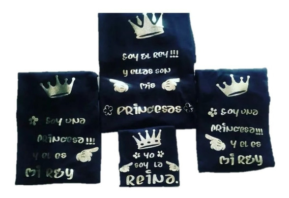 Franelas Personalizadas Parejas Reina Familia Cumpleaños Etc