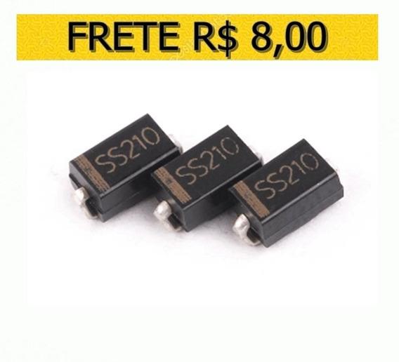 Diodo Ss210 Sr2100 Sb2100 100v/2a Smd - Lote 10 Unidades