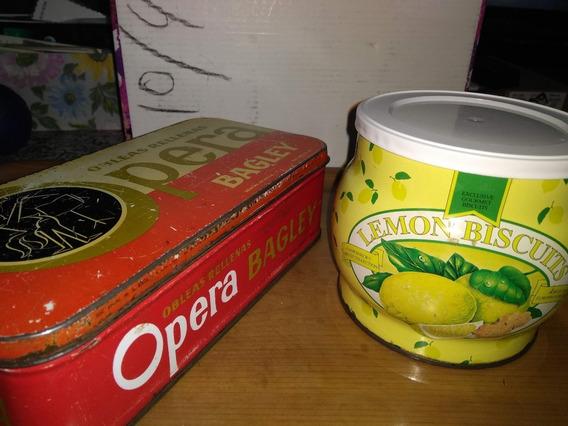 Antigua Lata Chapa Obleas Opera Bagley + Limón Retro Vintage