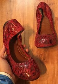 Preciosos Zapatos Lucky Brand Rojos 24 Originales!!