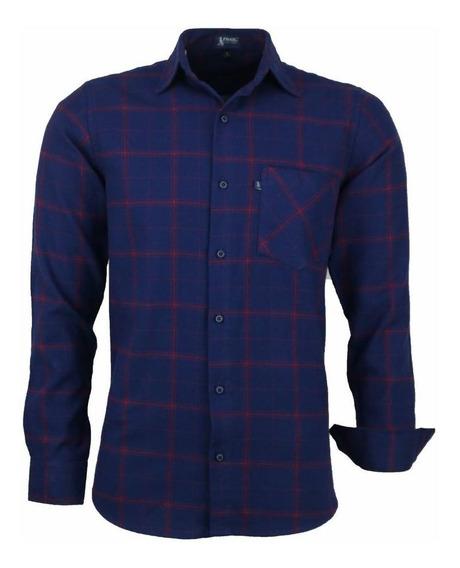 Camisa Garnet Manga Longa Tradicional Algodão Flanela Cor