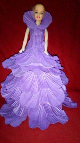 Boneca Barbie Princesa, Vestido Em E.v.a