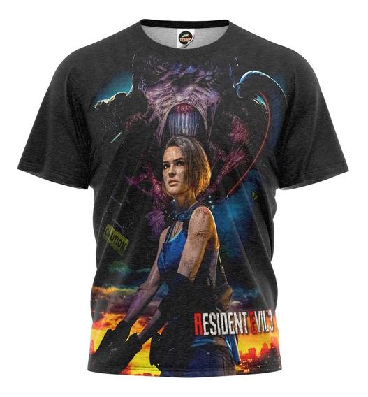 Camiseta Resident Evil 3 Remake Camisa Game Infantil Mod 003