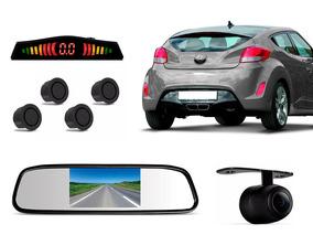 Sensor De Ré Câmera Traseira Retrovisor Lcd Hyundai Veloster