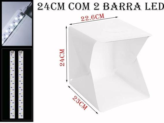 Mini Estúdio Portátil Fotografia Barra 40 Led 20w + Fonte