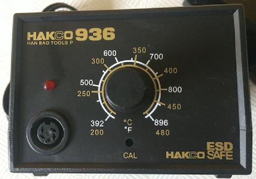 Imagen 1 de 3 de Cautin Estación Soldar Hakco 936 60w Temperatura 200-480°c