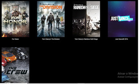 Rainbow Six Siege + For Honor + The Crew + The Division -pc