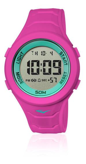Relógio Feminino Everlast E717 47mm Silicone Rosa