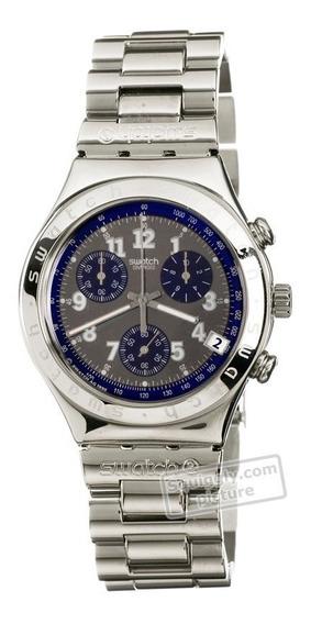 Relógio Swatch Secret Agent Grey Ycs404g Importado Ac Trocas