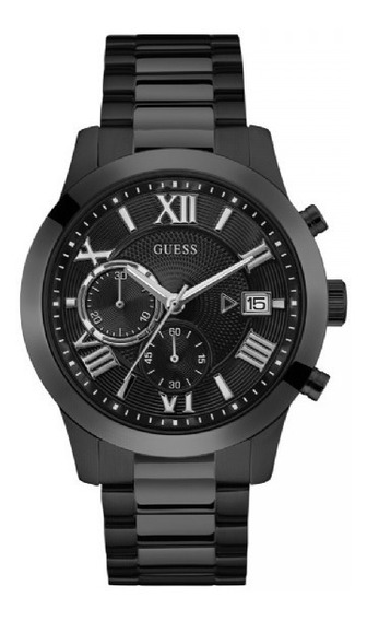 Relógio Masculino Guess Aço Preto 92722gpgdpa7 Original + Nf