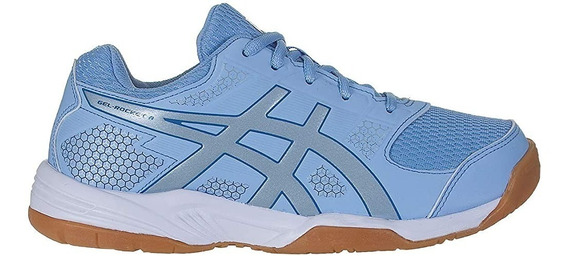 Tênis Asics Gel Rocket 8 Azul Para Vôlei, Handebol E Futsal
