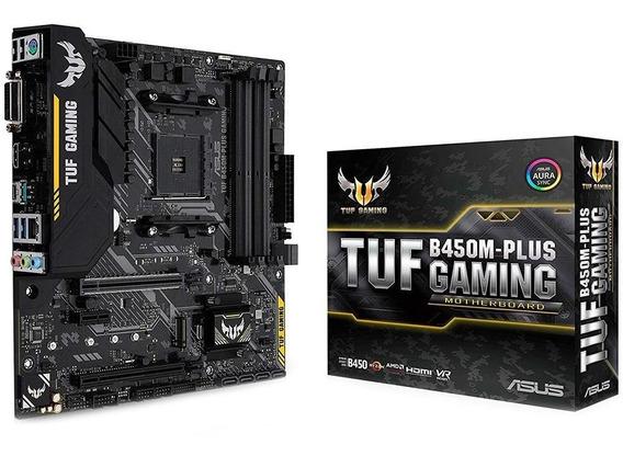 Placa Mae, Amd Am4 Asus Tuf B450m-plus Gaming