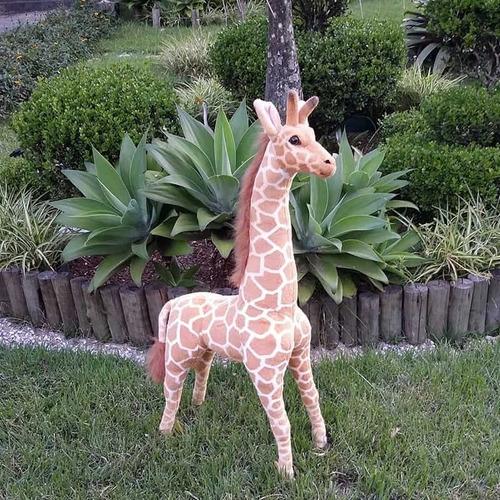 Imagem 1 de 5 de Girafa De Pelúcia Safari - 90cm Em Pé Realistica