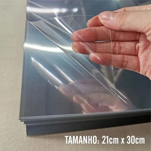 100 Folhas De Acetato Pet Transparente A4 21x30cmx0,30mm Esp