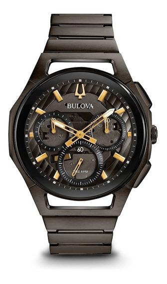 Reloj Bulova Cronógrafo Curv 98a206 Para Caballero E-watch