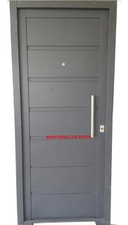 Puerta Seguridad Frente Doble Chapa Inyectada Chapa 18