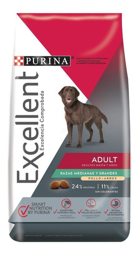 Imagen 1 de 1 de Alimento Excellent Adult para perro adulto de raza mediana/grande sabor pollo/arroz en bolsa de 20kg