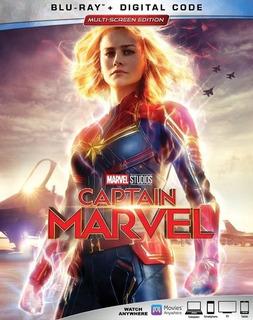 Captain Marvel Blu-ray + Dvd Import Original En Stock