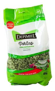 Depimiel Cera Depilatoria Perlas Vegetal Aloe Vera X 400gr
