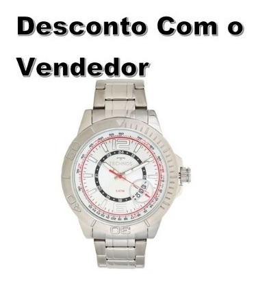 Relógio Technos Masculino Prateado 2315kzo/3k