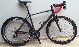 Bike Speed Carbono Competição Tamanho 54 Marca Look