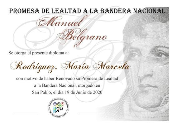 Kit Imprimible Diploma Jura Bandera Listo Para Imprimir
