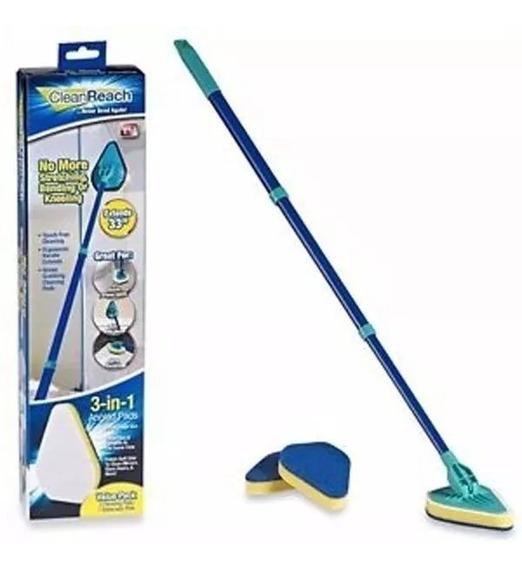 Vassoura Mágica Clean Reach Triângular +refil Pronta Entrega