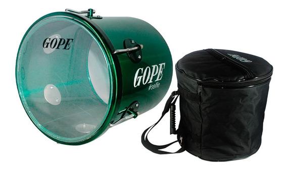 Repique De Mão Gope Verde Selfie Pele Cristal 11pol + Capa