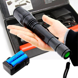 Lanterna Tática Led T6 Com Zoom 2 Baterias E Red Sinalizador