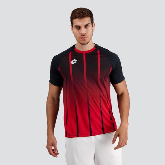 Camisa Lotto Imortal 2.0 Preta E Vermelha