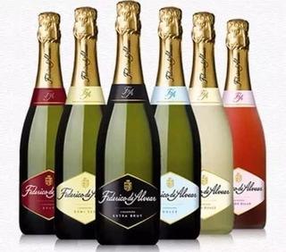Champagne F.de Alvear Brut, D.sec, E.brut, 750c Caja X6ud