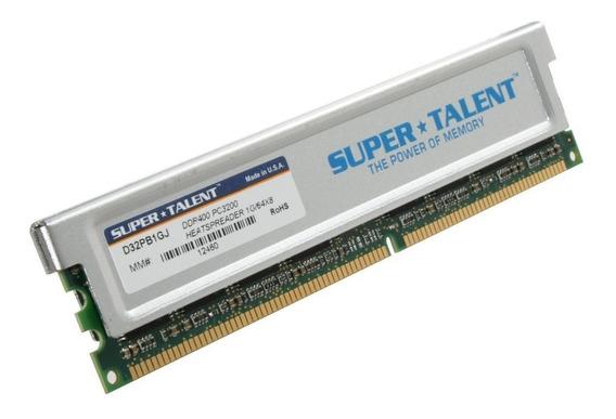 Memoria Supertalent 1gb Ddr 400mhz Pc-3200 C/ Disipador
